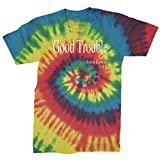 Expression Tees Mens Good Trouble Quote Mens Large Tie-Dye Rainbow Reactive
