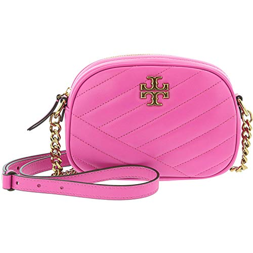 Tory Burch Tory Burch Kira Small Chevron Shoulder Bag In Fuchsia Quilted Leather Pink