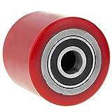 PrimeMatik - Rueda para transpaleta Rodillo de poliuretano de 80x60 mm 700 Kg