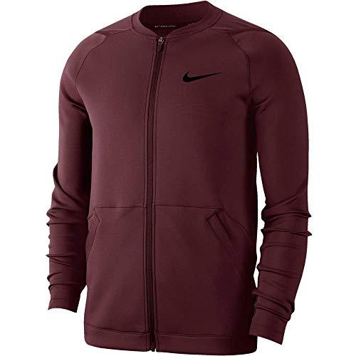 Nike Herren Full Zip Fleece Jacke, Night Maroon, L
