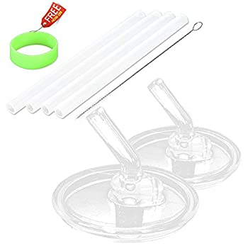 Replacement Straws for 10 OZ Thermos Foogo Bottles by Greant BPA-FREE Thermos Straws Replacement Kids,Included 4 Straws