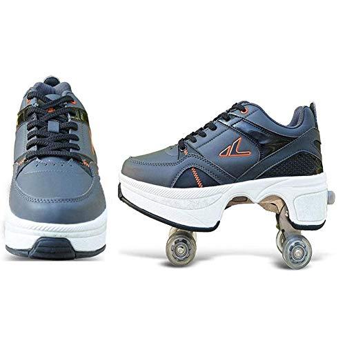 Hmyloz Fietsschoenen, dubbele rijen, vervorming, rol van de schoenen, riemschijf, voor volwassenen, kinderen, ganzens, quad, kunstschaatsen, outdoor sport