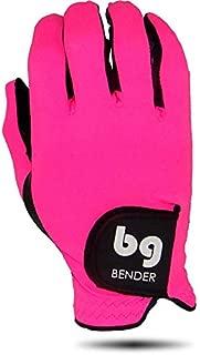 BG Bender Gloves Women's Spandex Golf Glove, Worn on Right Hand (Pink, Medium)