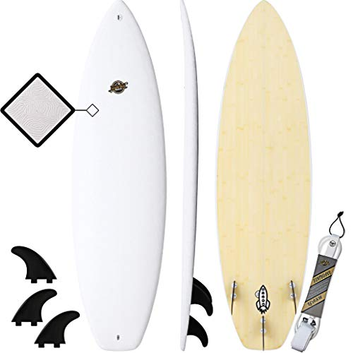 South Bay Board Co. - Hybrid Surfboards - Wax-Free Soft Top + Fiberglassed...