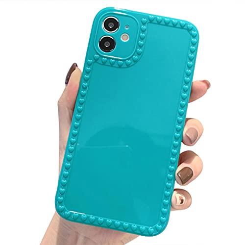 Rokmym Funda compatible con iPhone 11 Pro de silicona, superficie lisa, antiarañazos y antigolpes, para iPhone 11 Pro Slim, reforzada, protección contra caídas, compatible con iPhone 11 Pro, verde
