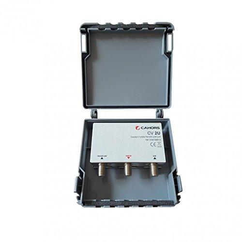 Cahors Coupleur Passif 2 entrées FM-VHF-UHF/UHF antenne TV TNT