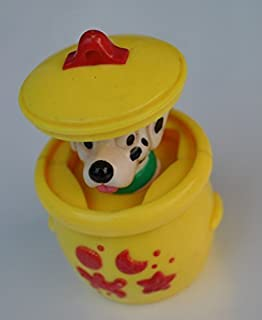 Siamproviding McDonald's Happy Meal Disney 101 Dalmatians Puppy in Pop Up Teapot Toy Figure Released in Thailand Rare Collection Get Free Thai Designed Gift
