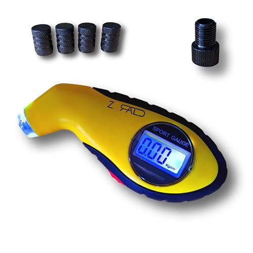 Zerald - manometro presion neumaticos, manómetro digital, manometro presion, manómetro bicicleta moto coche, medidor de presión neumáticos