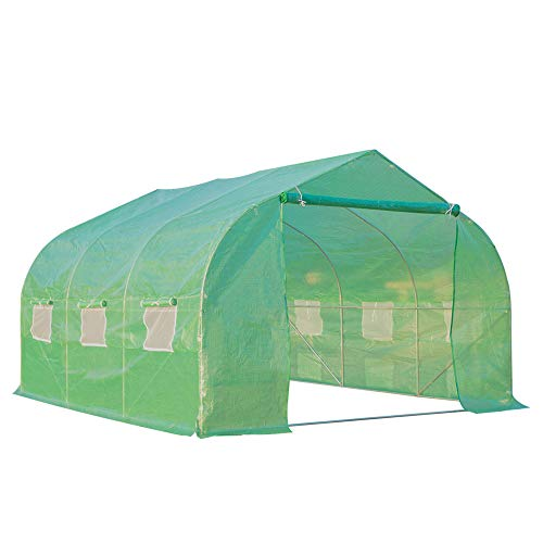Outsunny 12' x 10' Outdoor Walk-in Greenhouse Garden Hot House with 6...