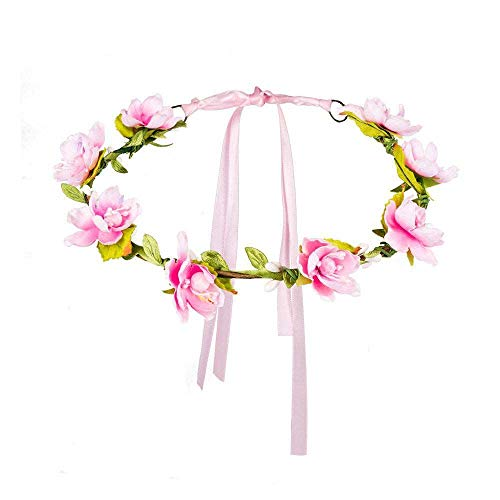 Boland 52221 - Stirnband Mallorca, Blumen-Haarkranz, Kopfschmuck mit Blüten, Flower-Power, Accessoire, Karneval, Kostüm, Mottoparty