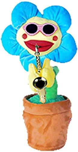 htrdjhrjy Selten Elektrisch Sun Voluptuous Blume Singender Tanzende Blowing Saxophon Simulation Sonnenblume Plüsch Spielzeug - H02