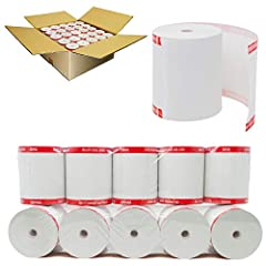 """This receipt paper measures 3-1/8"""" x 230'' (79.37 x 25.9m) and has an inner core dimensions of 7/16"""" (11.11mm) with 48 - 55 gram paper. This product is designed for ease of use by printing cleanly and helping prevent paper jams by feeding paper smoot..."""