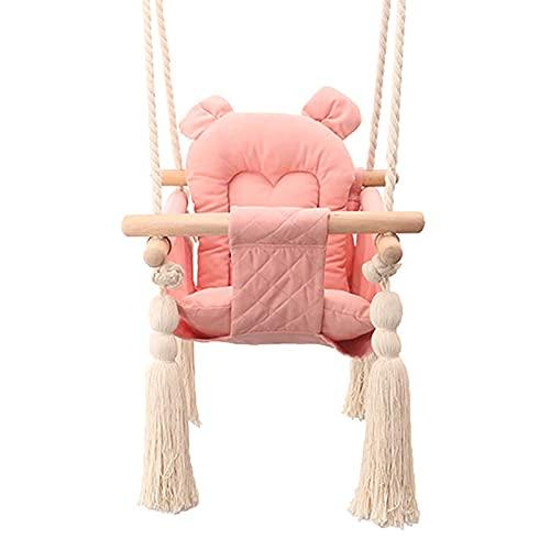 DASLING Juego de columpio para bebé, columpio de madera, ideal como columpio de bebé, columpio de jardín, columpio interior 2 en 1, columpio 3 en 1 que crece con niño, incluye cinturón de seguridad