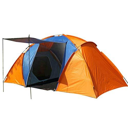 Camping Calidad 5-8 Persona Tienda Grande Tienda Impermeable Doble Capa Vena Tienda Al Aire Libre Camping Senderismo Pesca Caza Familia Partido Tienda Tienda Tipi (Color : Orange)