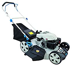 professional Pulsar PTG1221 173 cm3 engine 21 inch petrol mower 7 direction height adjustment, white