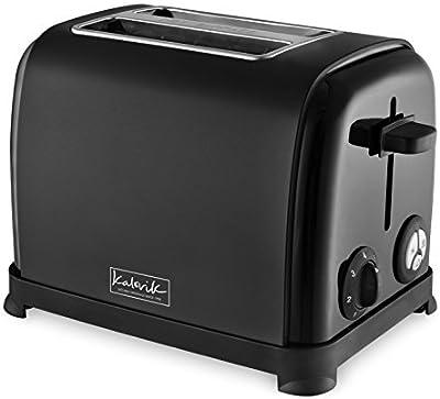 Kalorik Matte Black TO34284 Two Slice Toaster, Stainless Steel, 850 W