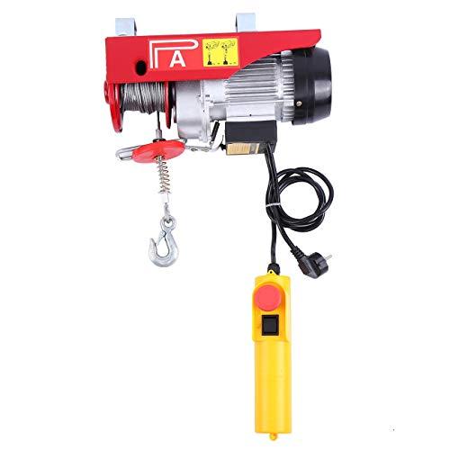 Samger 100/200KG Polipastos Electricos para Garaje Auto Tienda Talleres 220V Guinche Electrico Cable para Elevador Electrico