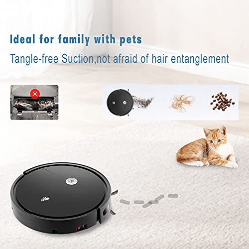 McTURING S2 1800 Pa Robotic Vacuum Cleaner with App & Voice Control, Strong Suction and Multiple Cleaning Modes, Wet and Dry Cleaning, Self-Charging for Carpets & Hard Floors, Voice Controlled