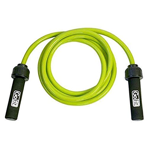 GoFit Weighted Resistance Jump Rope - Heavy, Adjustable Fitness Training Rope