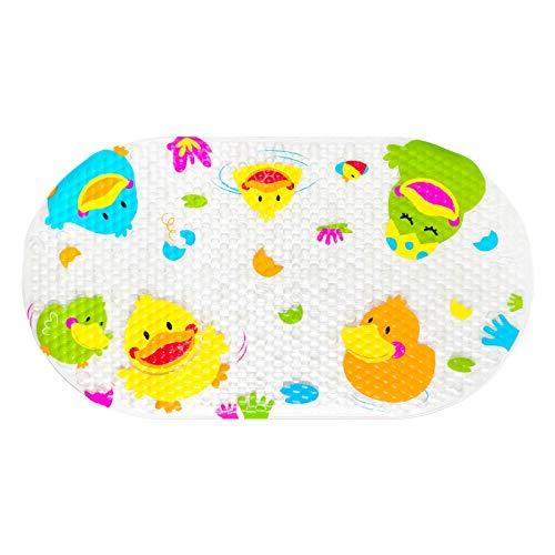 OTHWAY Alfombrilla de baño Antideslizante para bebé, Alfombrilla antimoho para bañera de bebé, Alfombrillas de Ducha para baño con ventosas, 39 x 69 cm (Pato Amarillo)