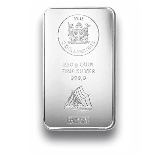 Silberbarren 250g - Fiji Münzbarren - 250g Feinsilber 999.9 - prägefrisch