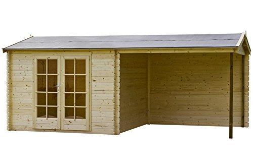 Fonteyn - Capannone da giardino con tetto spiovente, modello: Fonteyn Vera, non trattato, 560 x 300 cm