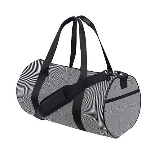 HARXISE Bolsa de Viaje,Rompecabezas Alucinación Ilusión Fractal Psicodélico,Bolsa de Deporte con Compartimento para Sports Gym Bag