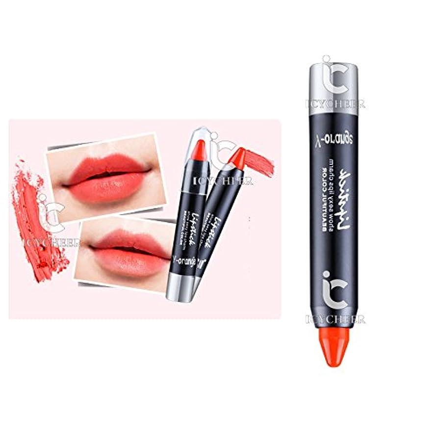 選出するカスタムプレゼンICYCHEER 6色メイク美容nude色口紅クレヨンペンリップスティックペンシル明るい (06)