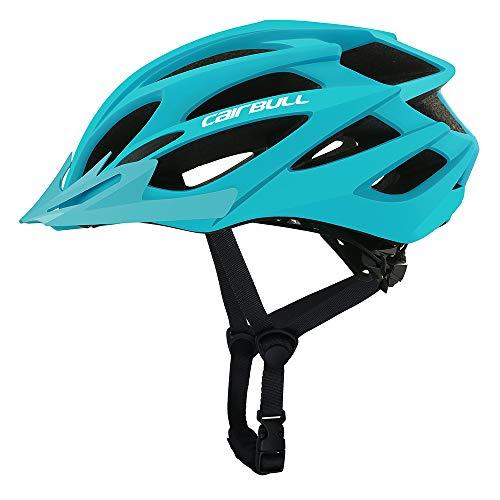 Cairbull Größe M und L Specialized Fahrradhelm MTB Helm Mountainbike Helm Herren & Damen Schwarz mit Rucksack Fahrrad Helm Integral 21 Belüftungskanäle (Tinte Blau, M/L (55-61CM))