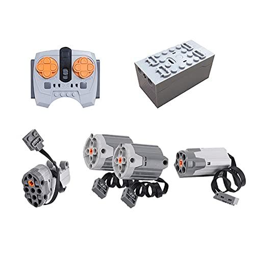 HEDI Technik Power Functions Set mit Motor und Fernbedienung, 6 Teile Kompatibel mit Lego Technic