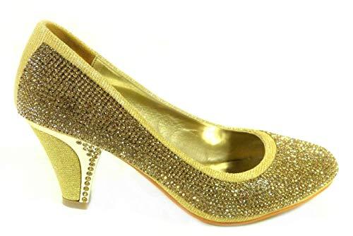 Zapatos de tacón bajo para mujer, para boda, graduación, para novia, fiesta,...