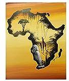 XXUREJK Póster de Mapa de África, Rompecabezas de Papel, 1000 Piezas, Juguetes para Adultos, Juego de descompresión, 38X26 CM