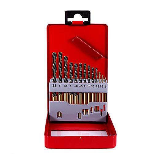 ZOYOSI 13pcs 1.5-6.5mm HSS Cobalt Twist Drill Bit Set for Metal Power Tools Accessories