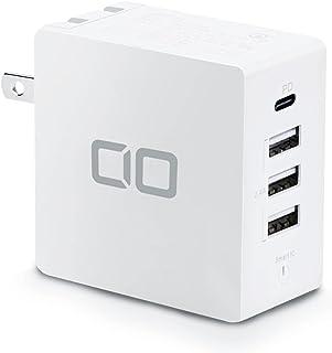 CIO USB PD 4ポート 30W 急速 充電器 USB/PD3.0/Type-C/折畳式プラグ/超コンパクト 合計出力42W iPhone12/iPad/Galaxy/Xperia/Huawei CIO-KJ-PD3