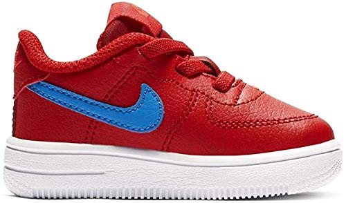 Nike Jungen Unisex Kinder Force 1 '18 (td) Hausschuhe, Mehrfarbig (University Red/Photo Blue/Bright Crimson 604), 19.5 EU