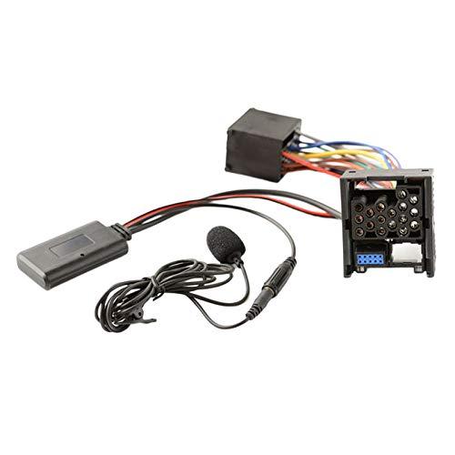TISHITA Adaptador de Cable de Audio Auxiliar Bluetooth 5,0 con Kit de micrófono para E46 Serie 3 2002-2006, el micrófono facilita la conversación Durante