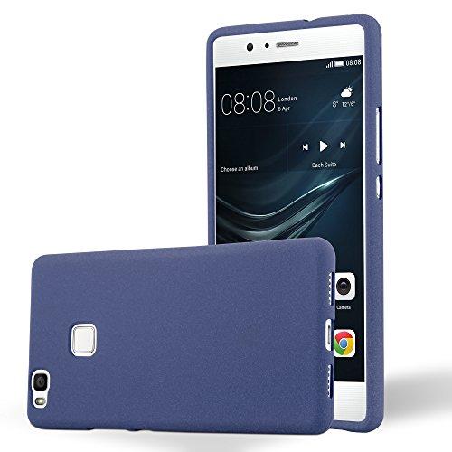 Cadorabo Custodia per Huawei P9 LITE in FROST BLU SCURO - Morbida Cover Protettiva Sottile di Silicone TPU con Bordo Protezione - Ultra Slim Case Antiurto Gel Back Bumper Guscio