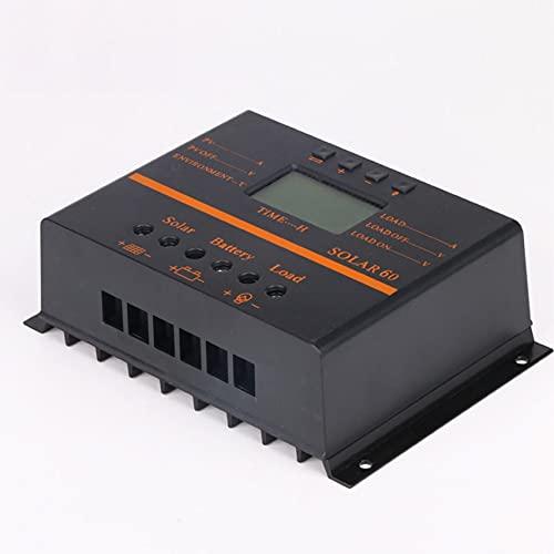 SHYEKYO 4. 0A 50A 60A 80A Solarladesteuerung LCD PV-Panel-Batterieladegerät-Regler anzeigen 1 2V 24V USB. Regler (Current : 40A)