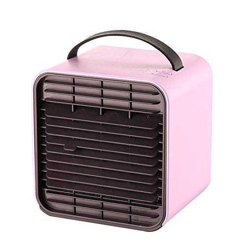 Luchtbevochtiger, Purifier met USB, Portable Air Cooler, Mini Air Conditioner, Desktop koelventilator voor huis, kamer, Office,Pink