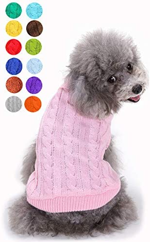 Small Dog Sweater Warm Pet Sweater Cute Knitted Classic Dog Sweaters for Small Dogs Girls Boys product image