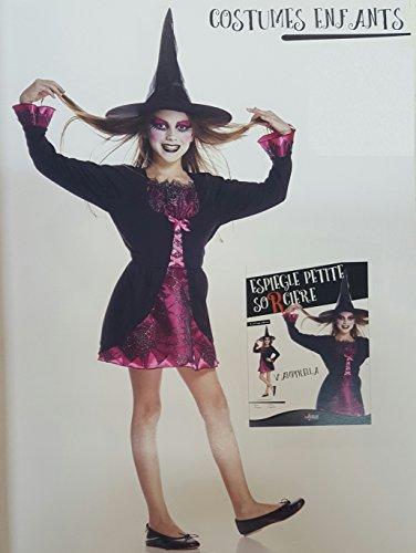 Générique Generic AQ00086/s–Naughty Little Costume da Strega Taglia S 5/7ANS 128cm