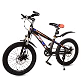 DUOCACL Bicicleta para niños de 20 pulgadas de bicicleta de montaña edición de altura ajustable impreso Bicicleta, para niños niñas niños Navidad regalo de cumpleaños