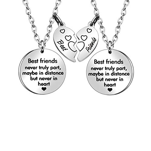 Best Friend Necklace, 2 Pcs Necklaces for Women Girls Friendship Gifts Christmas Gifts Birthday Gifts Thanksgiving Gifts