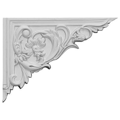 "Ekena Millwork SB08X06FL-R Flower Stair Bracket, Right, 8 5/8""W x 6 1/4""H x 5/8""D, Primed"