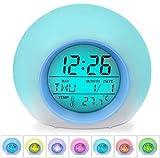 Kids Alarm Clock, 7 Color Electronic Bedrooms Alarm Clock, Children's LED Night Light