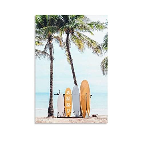 Póster de Sandy Beach Choose Your Surfboard y arte de pared, diseño moderno de 40 x 60 cm