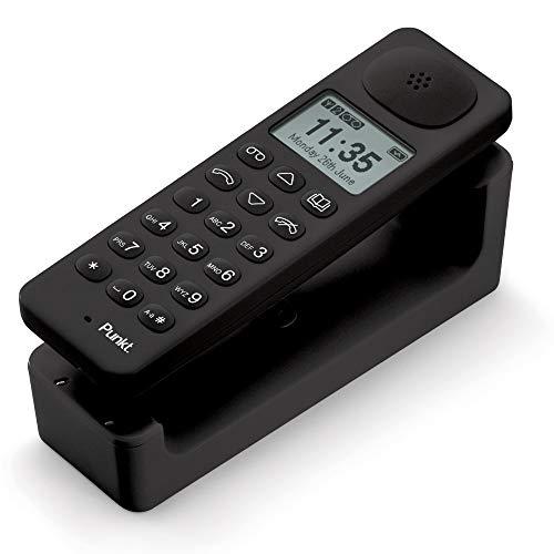 Punkt. DP01 Telefono Cordless (Dect) di Design con Vivavoce e Segreteria Telefonica, Telefono Fisso Moderno con Display Identificativo del Chiamante, Tastiera con Numeri Grandi, Posizionamento a Parete o su una Superficie Piana, per Casa e Ufficio - Nero