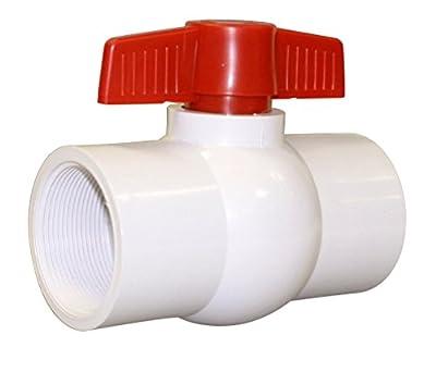 "Valterra 700-20F PVC Ball Valve, White, 2"" FPT by Valterra Products"