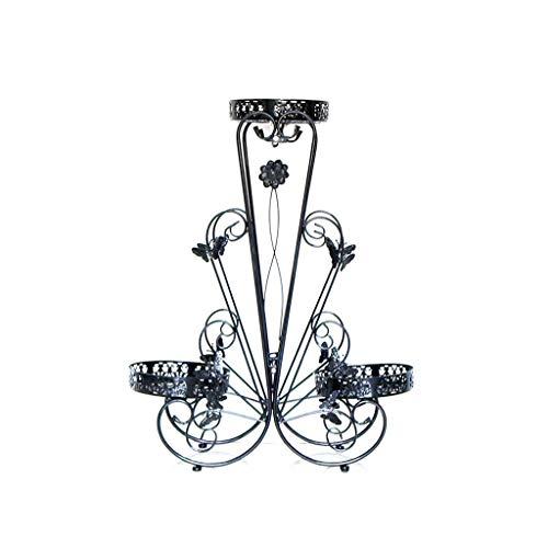 ZHANGYY Soporte de Planta Flor de Interior Soporte de Flores de múltiples Capas Soporte de Ventana para Escritorio Planta carnosa Arte de Hierro Creativo Soporte de Flor para balcón