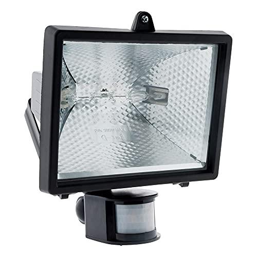 Projecteur halogène 400W Noir avec détecteur - IP44 CE